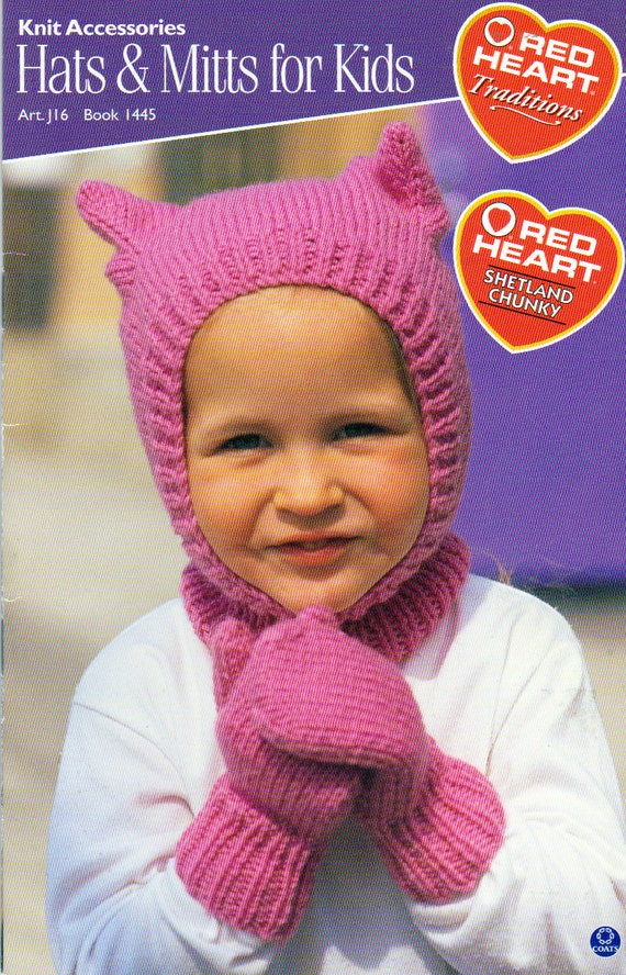 Red Heart Knitting Pattern Mittens : Red Heart Hats and Mitts and Socks Knitting Patterns