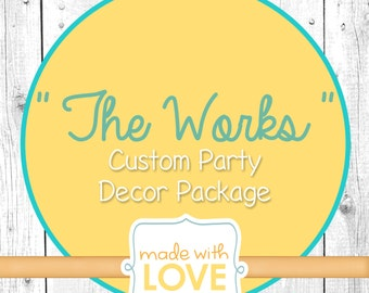 The Works- Ready to use Handmade Party Decor