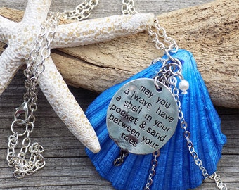 hand made painted real seashell necklace