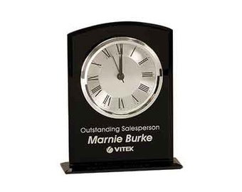 Personalized Glass Desk Clock, Corporate Office Promotion Gift