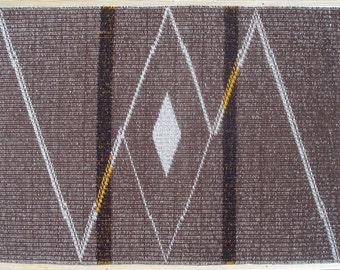 Brown Grey Diagonal Lines Rug