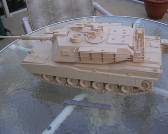 Handmade Wooden Tank -abrams