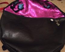 Double Sided Sequin Hula Hoop Carrying Bag / Water Resistant Hula Hoop Bag