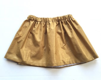 Gold Skirt - Fall Skirt - Baby skirt - Toddler skirt - Girls skirt - Shimmer Skirt - Christmas skirt  - christmas outfit baby