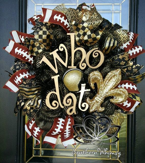 New Orleans Saints Home Decor: Door Decoration New Orleans Saints Football Door Wreath Show