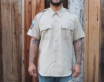 Tan Uniform Shirt w/ Sweet Patches