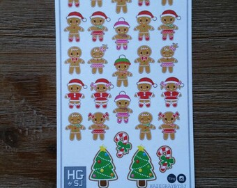 Kawaii Gingerbread Planner Stickers - S041