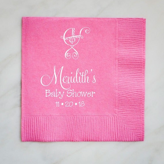 baby shower napkins custom baby shower napkins printed party napkins