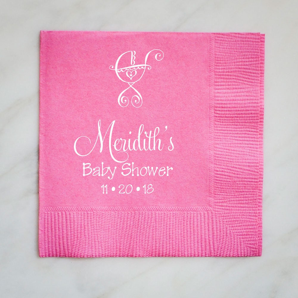 personalized baby shower napkins custom baby shower napkins
