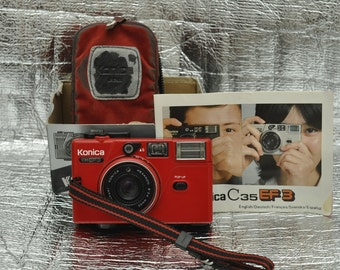 Konica C35 EF3 Point and Shoot Camera with Accessories