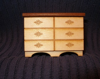 Miniature doll house dresser  with drawer OR two piece set