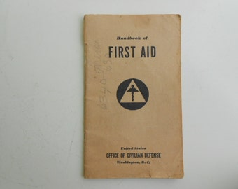 1941 Civil Defense First Aid Book