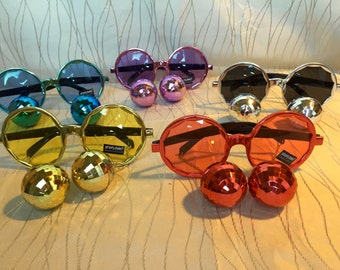 Personalized disco ball sunglasses for bachelorette party/Spring Break/Beach Trip/bachelor party/music festival/ road trip 2016