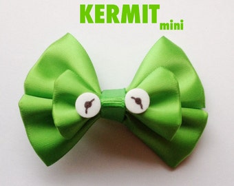 kermit mini hair bow