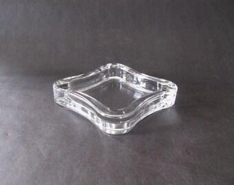 Jens Quistgaard Freeform Crystal / Glass Shallow Dish - Dansk, Denmark 1970s