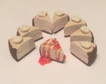 American Girl Doll Sized- White Chocolate Raspberry Cheesecake