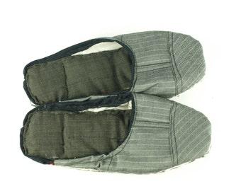 Tweed & Cotton Scrap Slippers Portuguese Chinelos de Trapos size EU 36-38