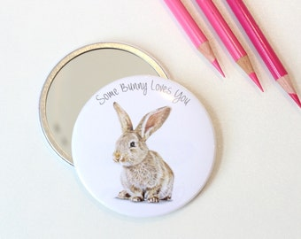 Some Bunny Loves You Bunny Pocket Mirror