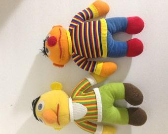Bert and Ernie stuffed toys