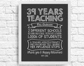 Customizable Teacher Retirement Gift  -  Teacher Stats- A Teacher Affects Eternity, She Can Never Tell Where Her Influence Stops