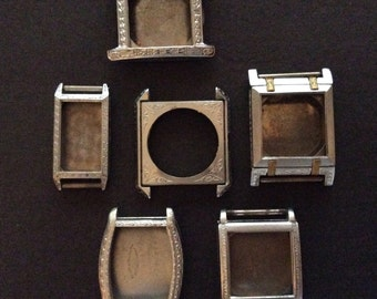 Antique Watch Cases- lot of 6