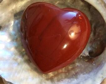 Red Jasper Gemstone Puffy Heart, 45mm, Healing Stone, Healing Crystals,Chakra Stone, Spiritual Stone