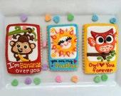 Valentine's Day Card Cookies (1/2 dozen)