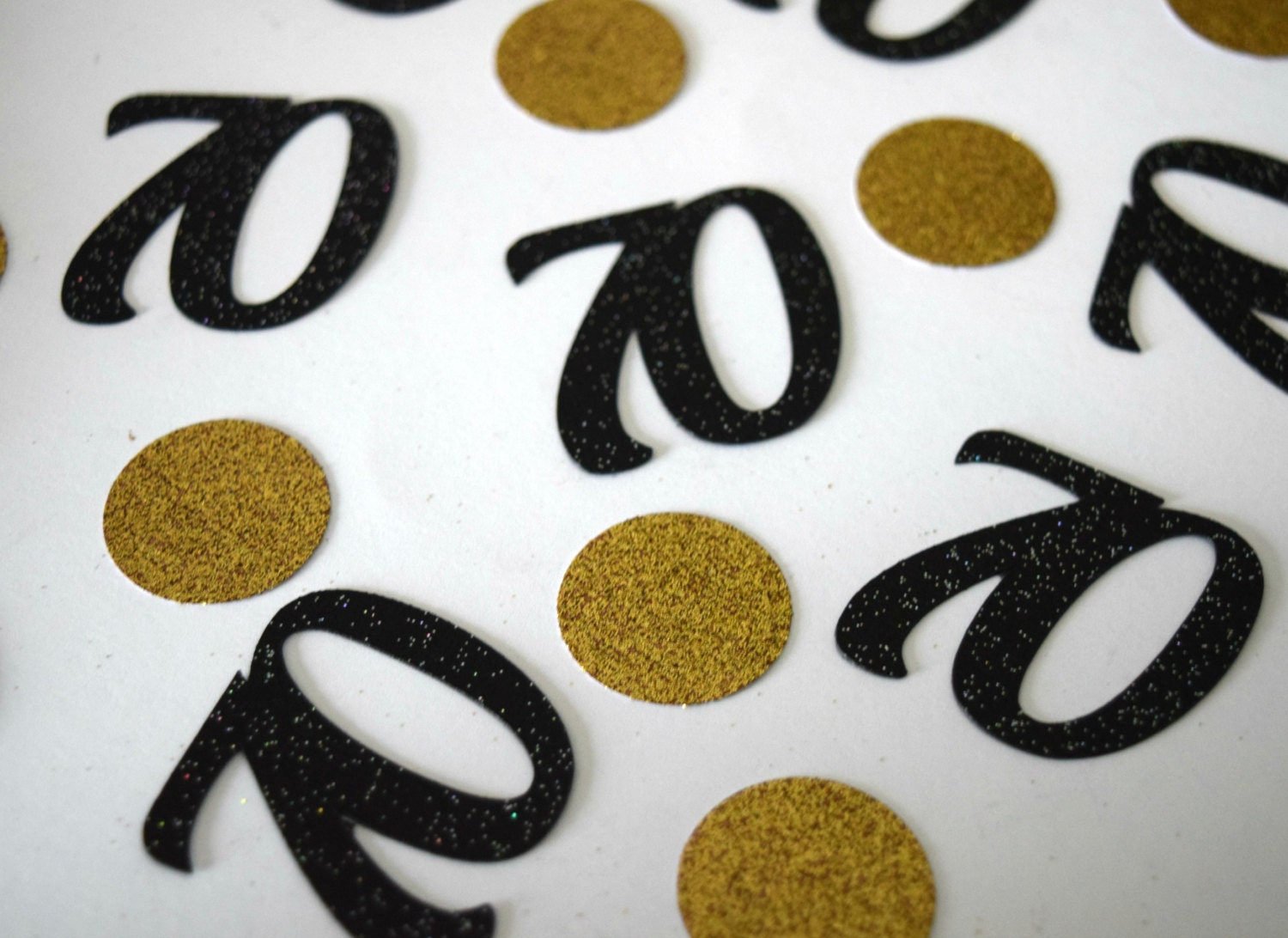 70th Birthday Party Decoration Gold Glitter 70 Table