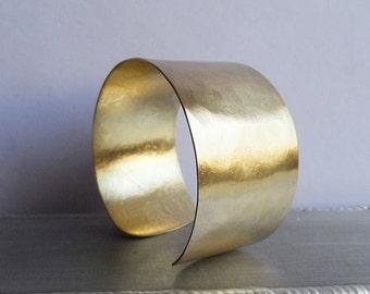 gold brass cuff bracelet