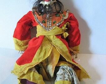 Burmese Hand Carved Wooden Man Marionette