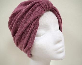 Chemo turban, pink turban, lined turban, chemo cap, Head turban, Hair Snood, chemo cap