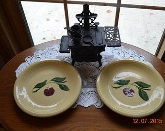 One Set Old Reproduction Watt Appleware Dinner Plate by Four Seasons Stonewear (I think!) or The Apple Barrel Watt Pottery Dinner Plate