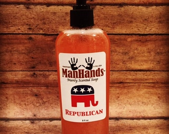 Republican Liquid Scented Soap 8oz.