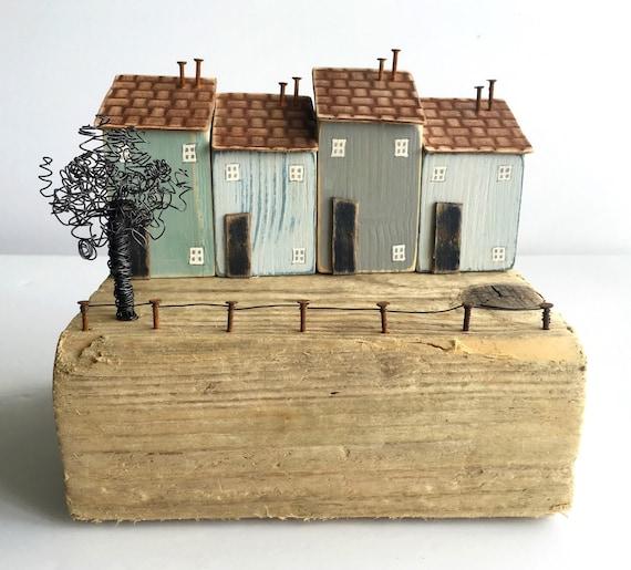 kleine holzh user treibholz und recyceltem holz kunst. Black Bedroom Furniture Sets. Home Design Ideas