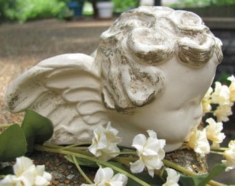 FREE SHIPPING Vintage Hand Painted Cherub Head Candle Holder