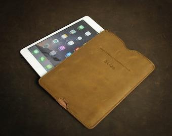 "Genuine Leather Laptop sleeve Personal Customization Handstitch iPad Air case iPad Mini Macbook 11"" 13"" 15"" Macbook Air iPad Pro L2107-YBr01"