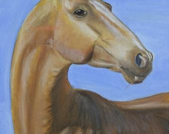 Digital art to download/Portait of Akhal-Teke Breed /horse art/horse portrait/animals/digital horse portrait/to print/