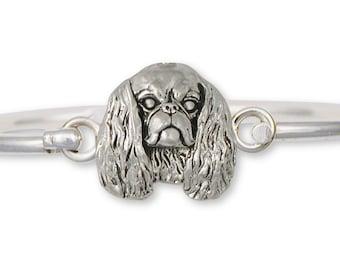English Toy Spaniel Bracelet Jewelry Sterling Silver English Toy Spaniel Dog Bracelet ET3-HB