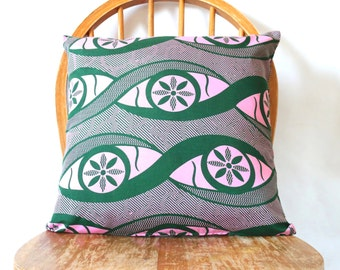 African Pillow Cover - African Cushion Cover - Decorative Pillow Covers - Accent Pillow Covers - Housewarming Gift Ideas