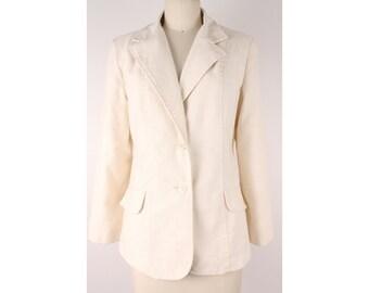 Vintage 1970s casual beige blazer size M Spring