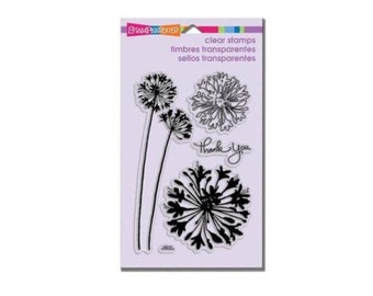 Stampendous AGAPANTHUS THANKS clear acrylic stamp set dandelion whispy 1.cc02 CS062