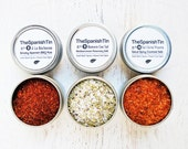 Valentines Day Foodie Gift, Foodie Party Collection, BBQ Rub, Cocktail Salt, Small Batch Spices