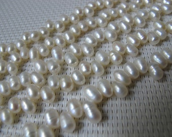 5-6mm Creamy White Rice Fresh Water Pearl PL64