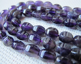 12x16mm Amethyst Egg Roll Bead S137