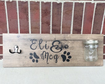 Custom Dog Treat and Leash Holder