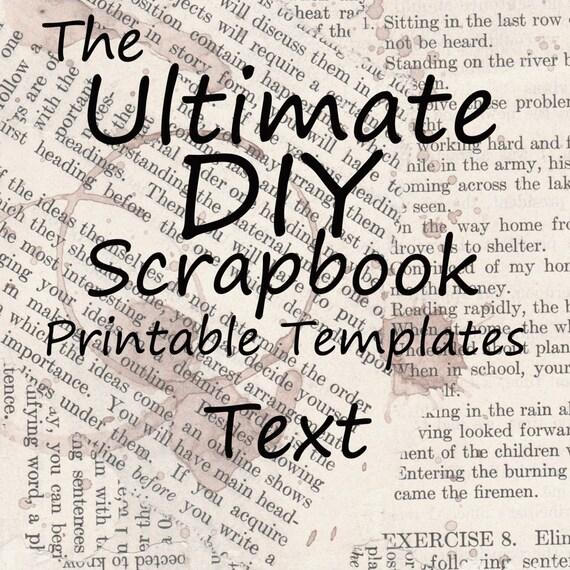 The Ultimate DIY Scrapbook Printable Templates Text + Plain Templates