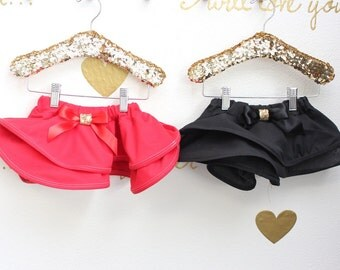 Black or Red Holiday Twirl Skirt