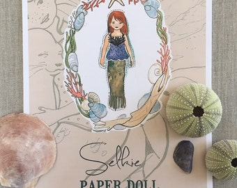 Selkie (Seal Maiden) Paper Doll Kit