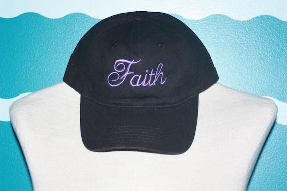 Embroidered Faith Baseball hat - Custom Faith baseball cap - Embroidered hat