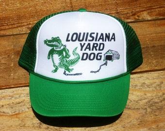 Vintage Louisiana Yard Dog Alligator Mesh Trucker Hat